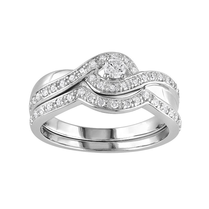 Diamond Engagement Ring Set in Sterling Silver (1/3 ct. T.W.)