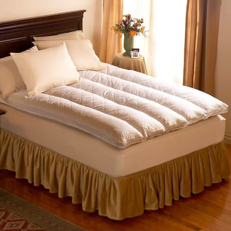 Pacific Coast Feather 4-in. Queen Quilt Top Featherbed - 60'' x 80''
