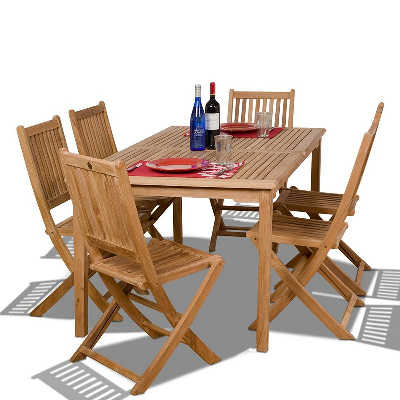 Amazonia Teak Lisbon 7-pc. Dining Set - Outdoor