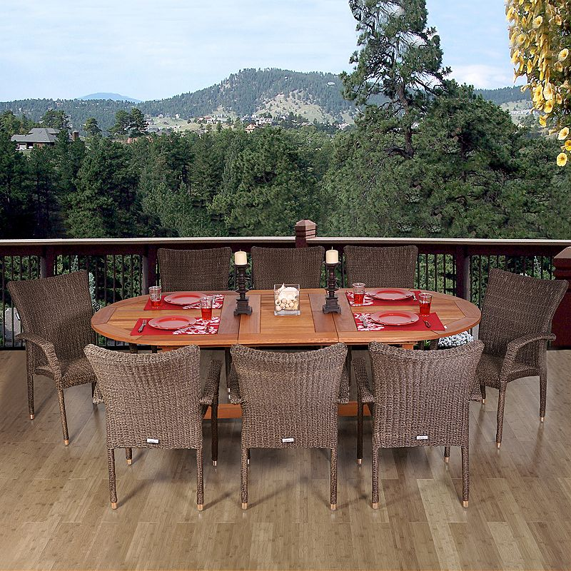 Amazonia Conway 9-pc. Extendable Oval Dining Set - Outdoor