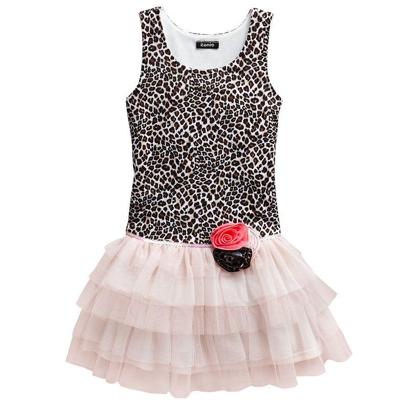 Pinky Los Angeles Drop-Waist Cheetah Dress - Toddler