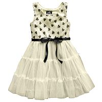 Pinky Los Angeles Sequin Tiered Dress - Toddler