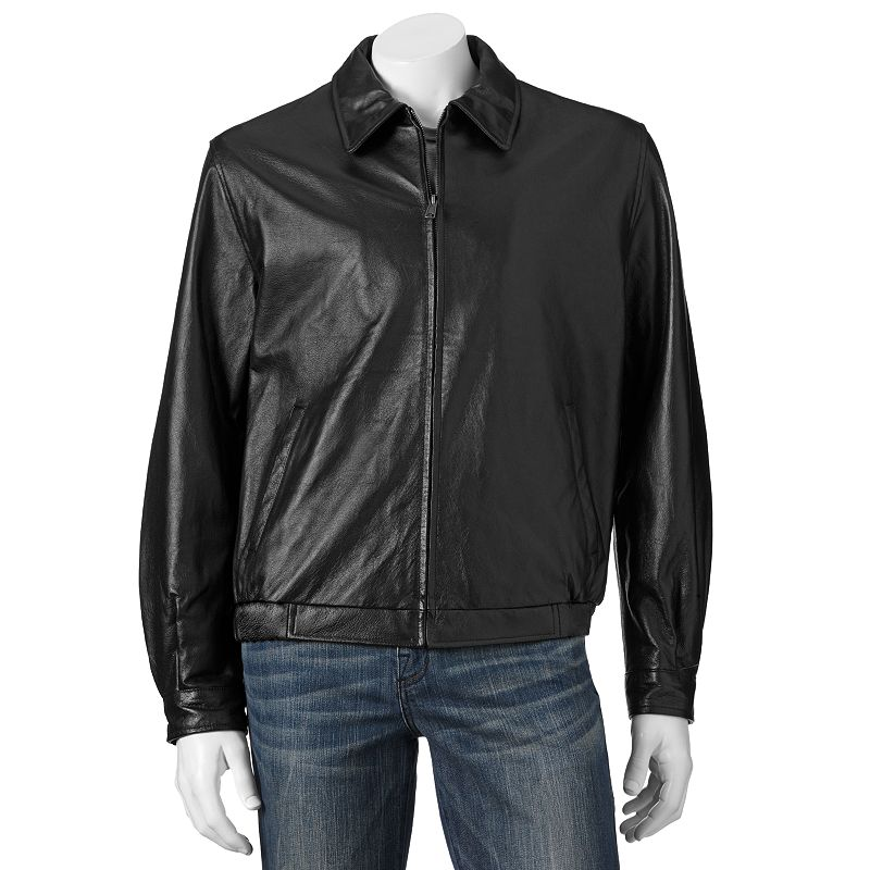 Men's Croft & Barrow® Leather Bomber Jacket