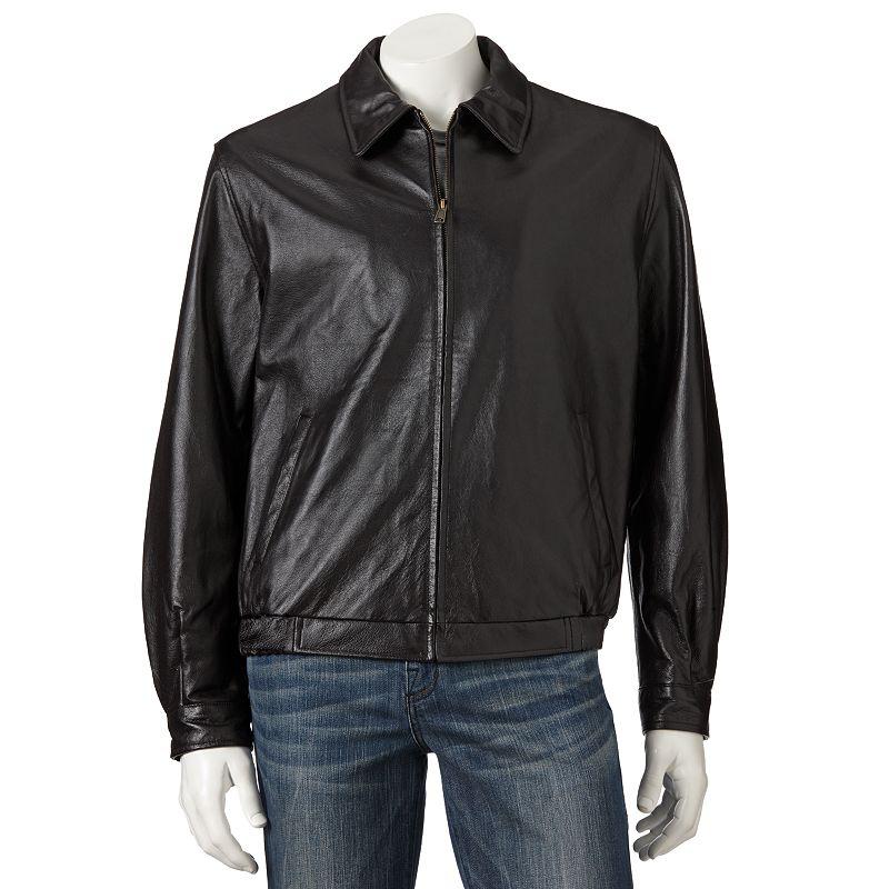 Men's Croft & Barrow® Leather Bomber Jacket