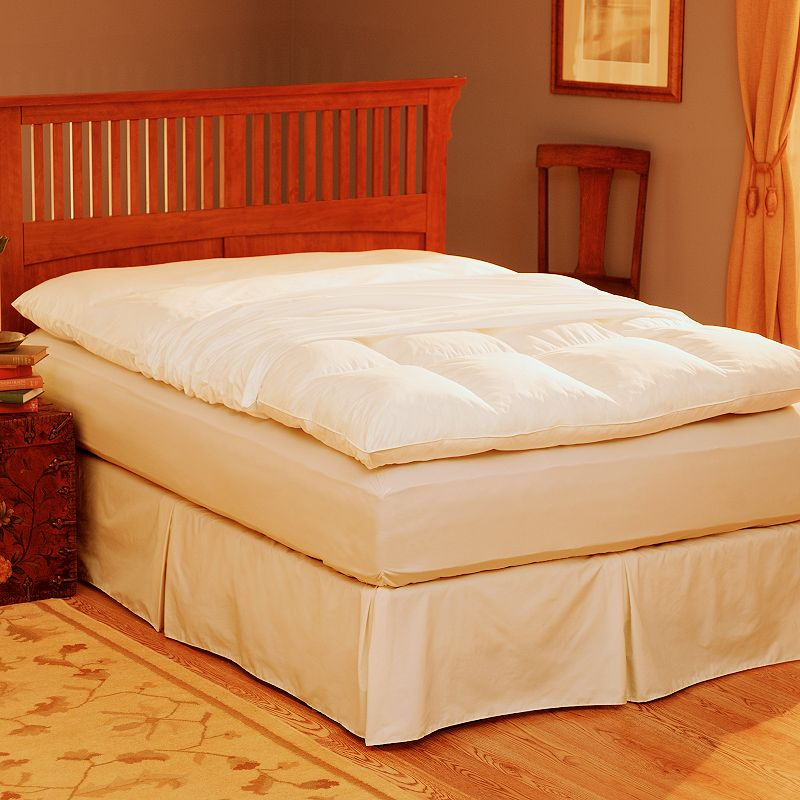 Pacific Coast Feather King Featherbed Protector - 80'' x 86''