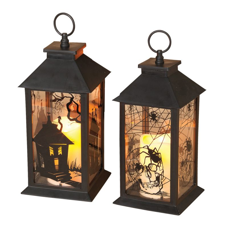 ... pk. Halloween Lanterns & LED Pillar Candles - Indoor and Outdoor