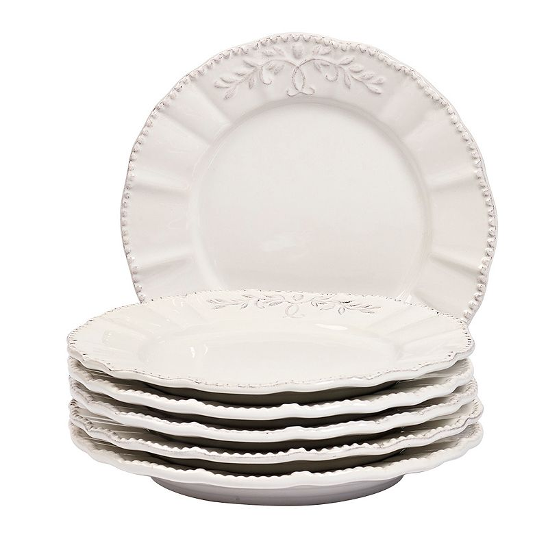 Gallery Le Provence 6-pc. White Salad Plate Set