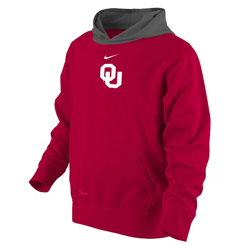 Boys 4-7 Nike Oklahoma Sooners Therma-FIT Hoodie