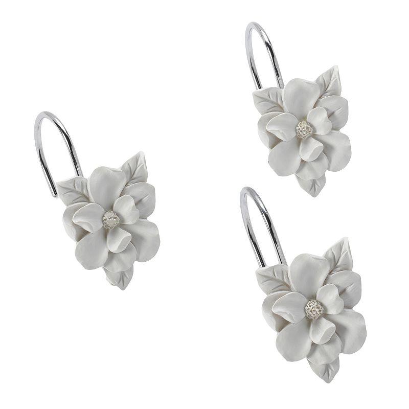 Lc Lauren Conrad 12 Pk Flower Shower Curtain Hooks White