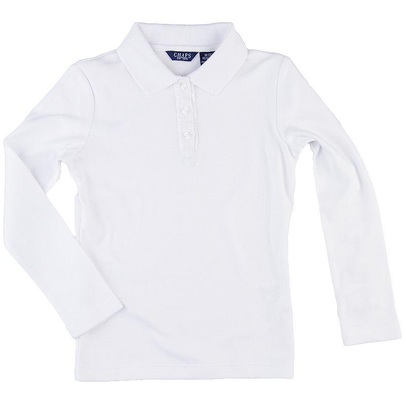 Girls 4-6x Chaps Ruffled Placket School Uniform Polo