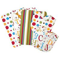 Dr. Seuss ABC Burp Cloth & Bib Wicker Basket 7-pc. Set by Trend Lab