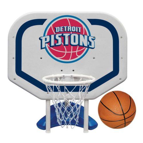Poolmaster Detroit Pistons NBA Pro Rebounder Poolside Basketball Game