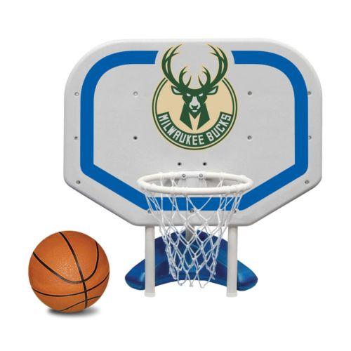 Poolmaster Milwaukee Bucks NBA Pro Rebounder Poolside Basketball Game