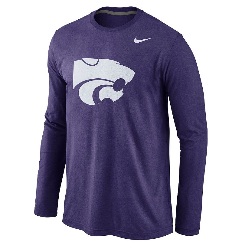 Men's Nike Kansas State Wildcats Logo Tri-Blend Tee