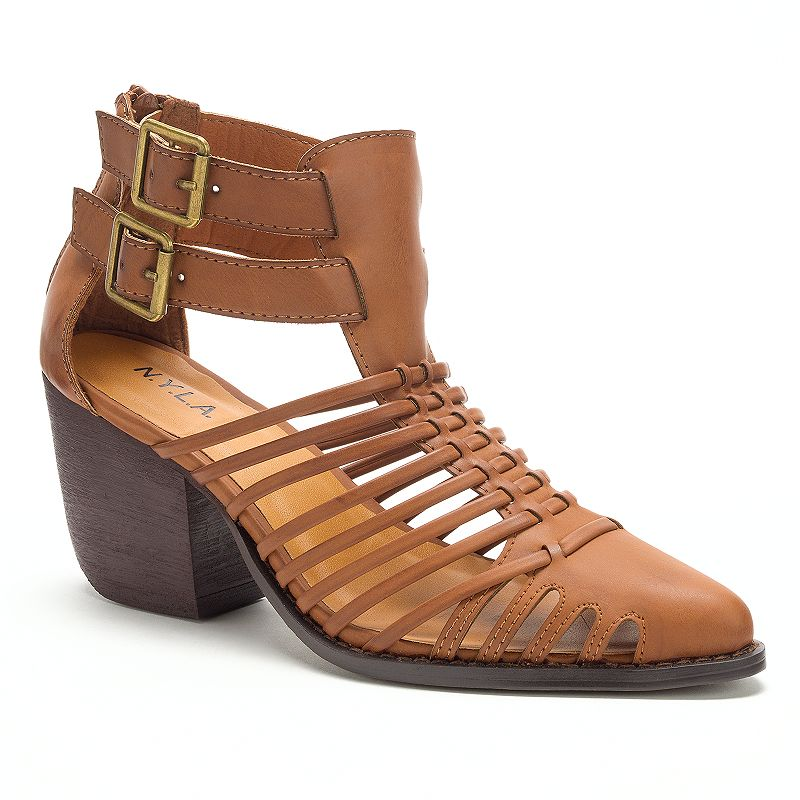 NYLA Ayani Women's Strappy Ankle Boots