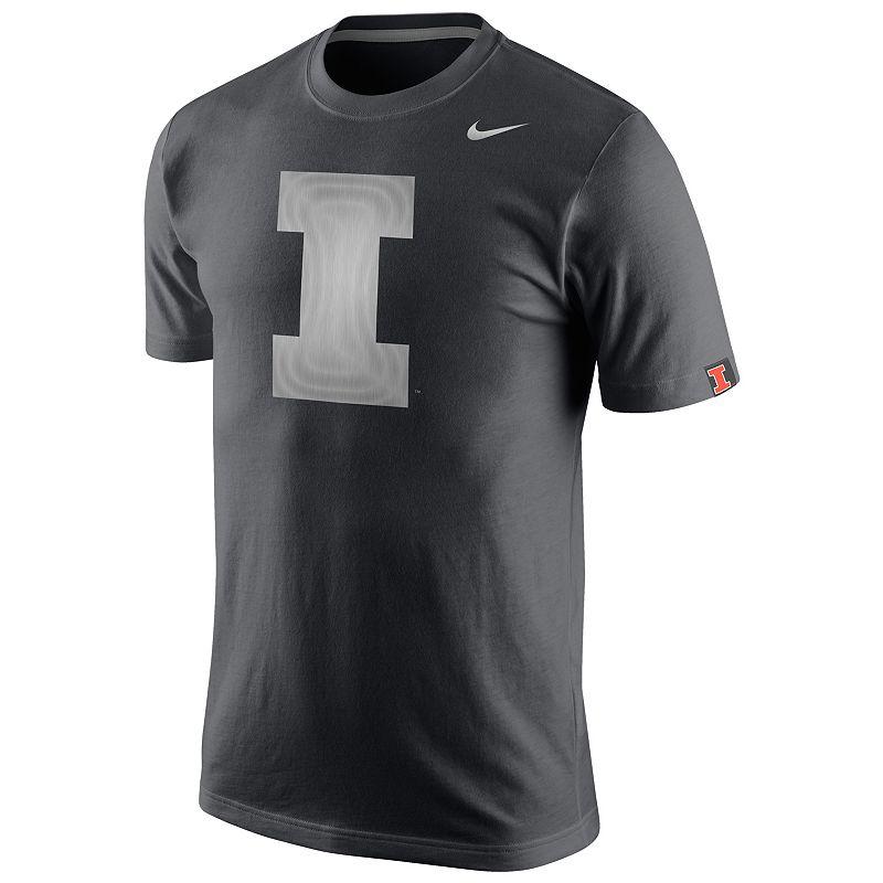 Men's Nike Illinois Fighting Illini Platinum Tri-Blend Tee
