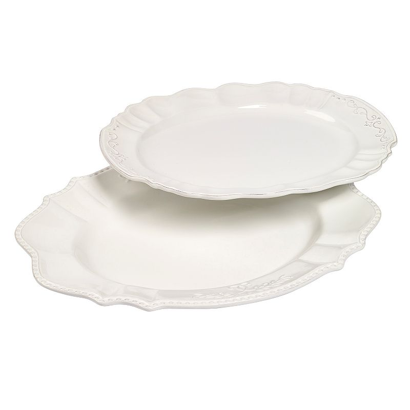 Gallery Le Provence 2-pc. Oval White Serving Platter Set