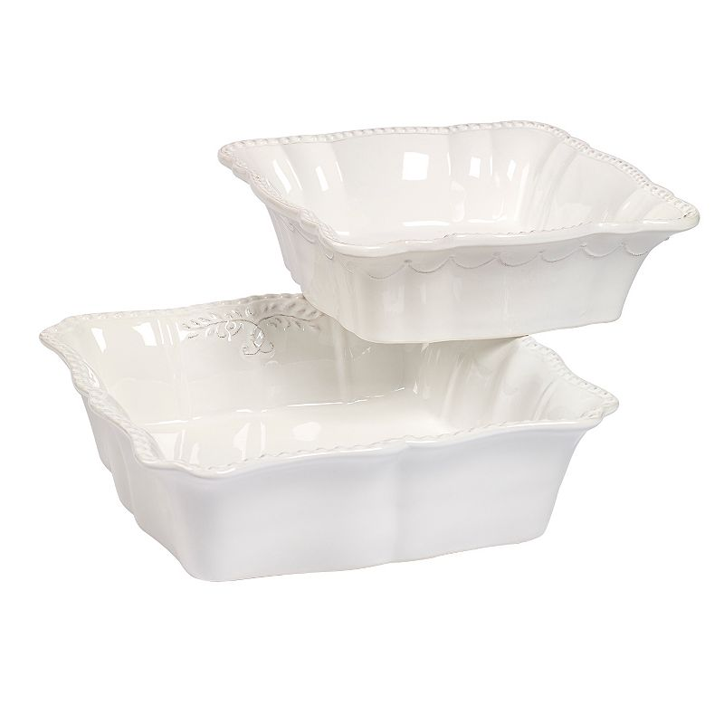 Gallery Le Provence 2-pc. Square Baking Dish Set - White