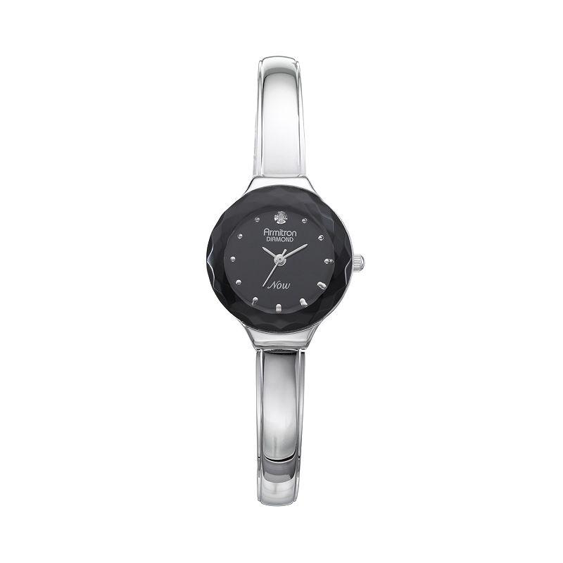 Armitron NOW Women's Diamond Half-Bangle Watch - 75/5198BKSV