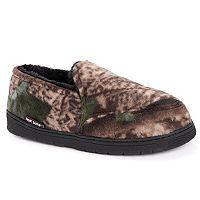 MUK LUKS Men's Camouflage Fleece Slippers