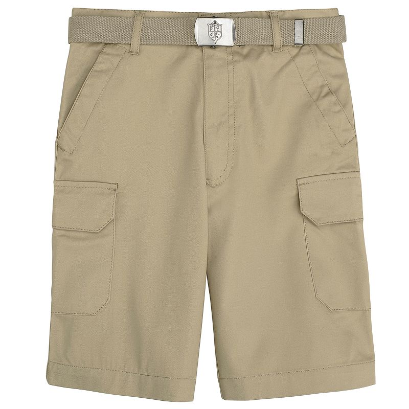 French Toast School Uniform Belted Cargo Shorts - Boys 8-20 Husky