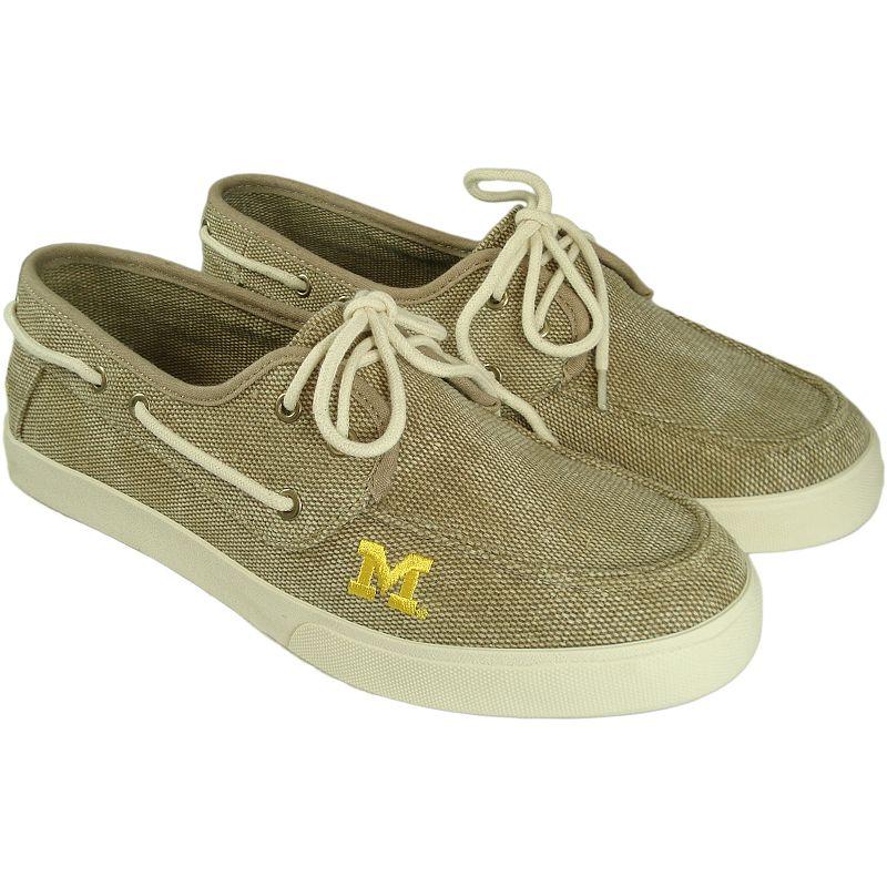 Men's Michigan Wolverines Captain Boat Shoes