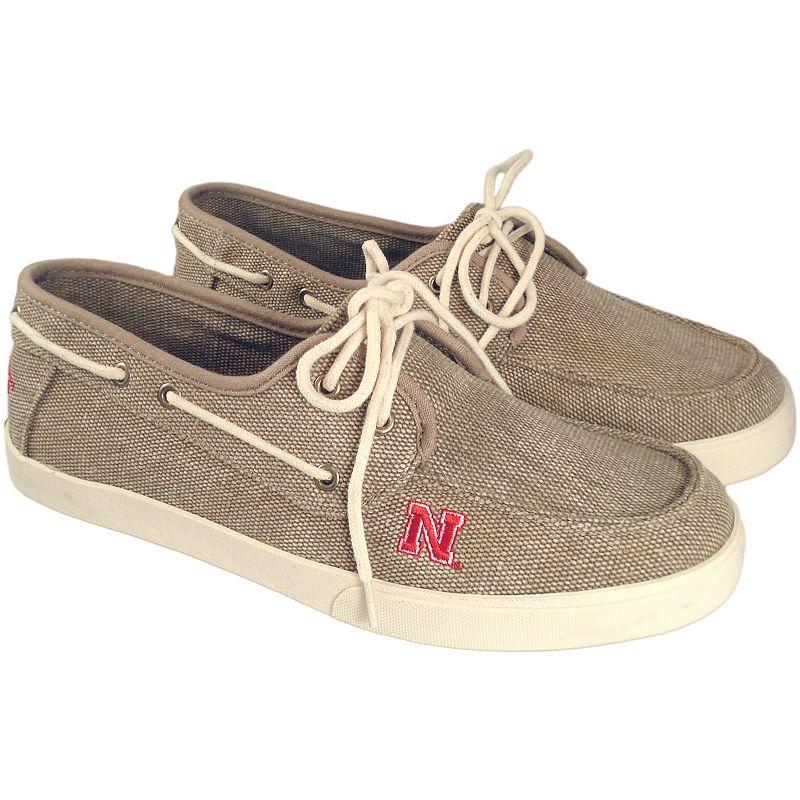 Men's Nebraska Cornhuskers Captain Boat Shoes