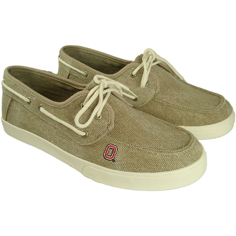 Men's Ohio State Buckeyes Captain Boat Shoes