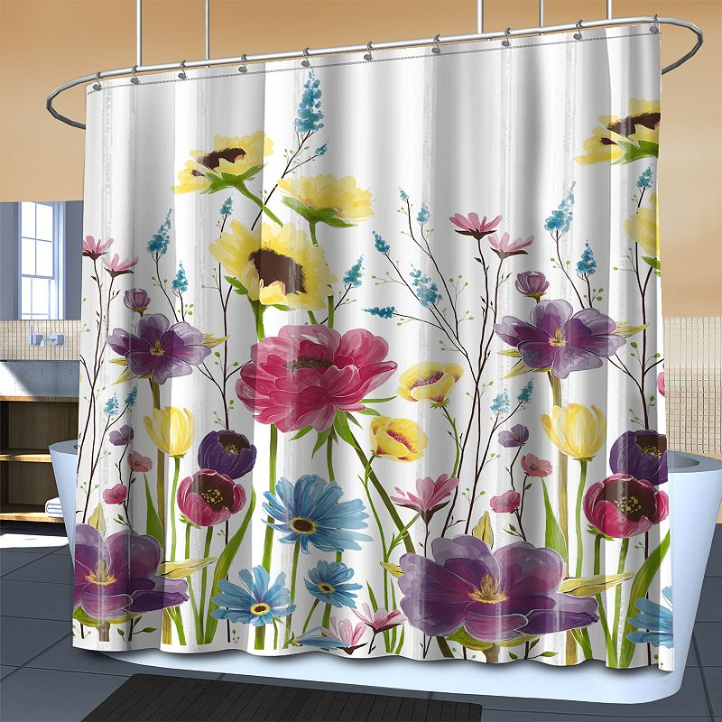 Splash Home Prisma Fabric Shower Curtain