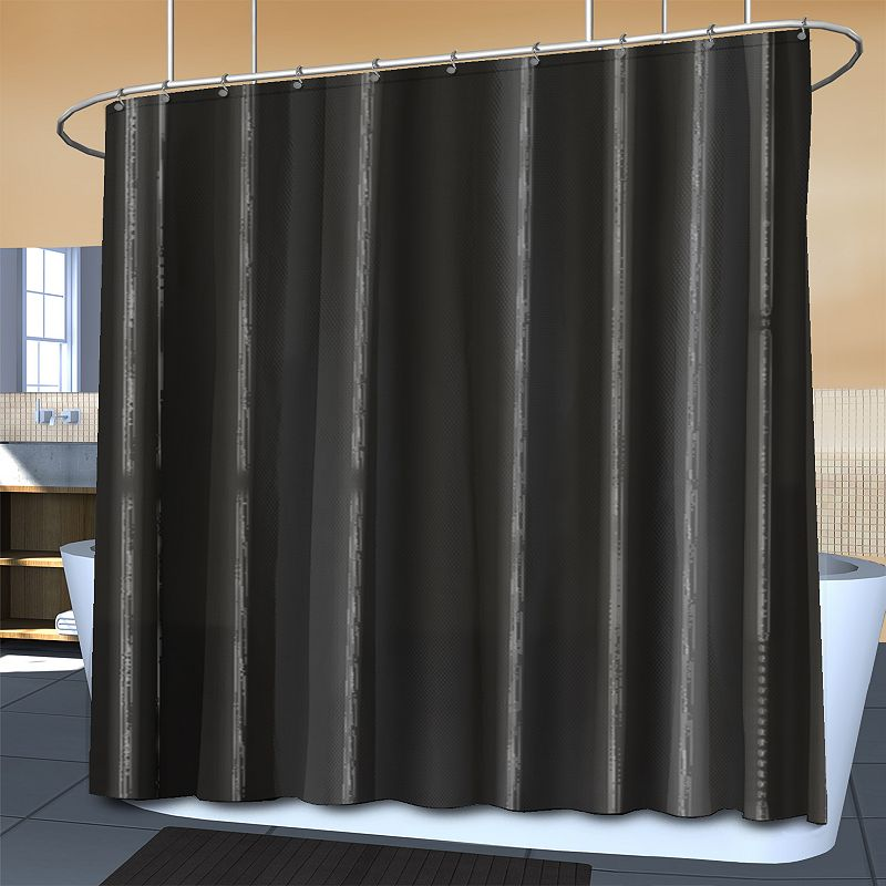 Splash Home Ella Waterproof Microfiber Fabric Shower Curtain Liner