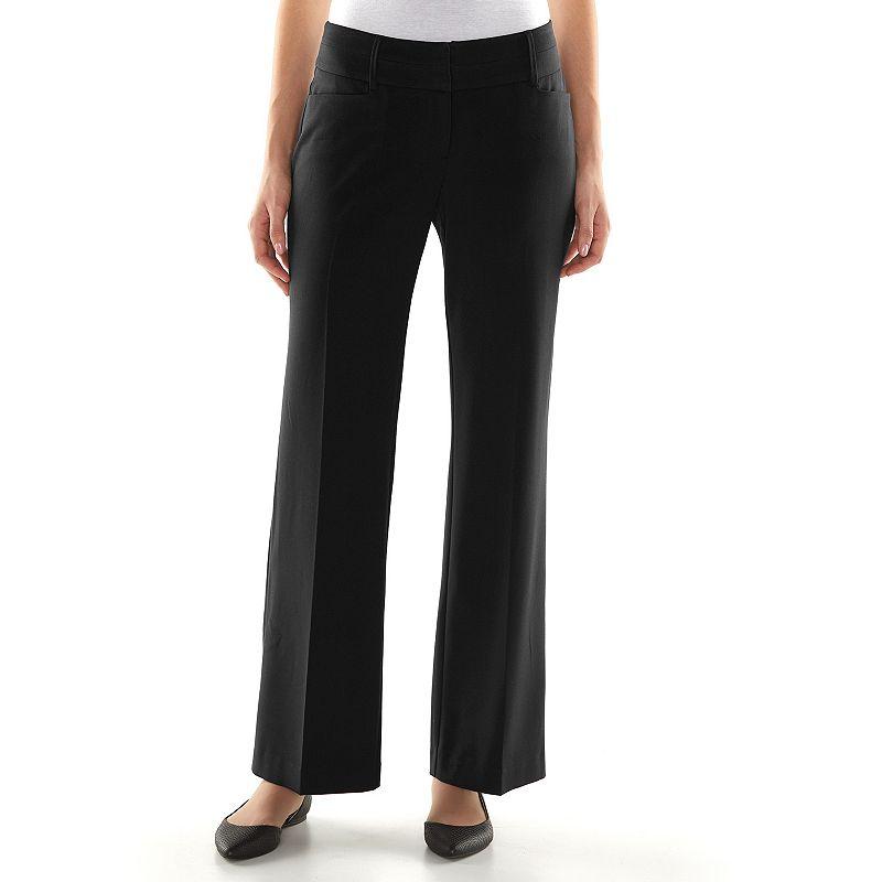 Petite Apt. 9® Curvy Fit Wide-Waistband Dress Pants