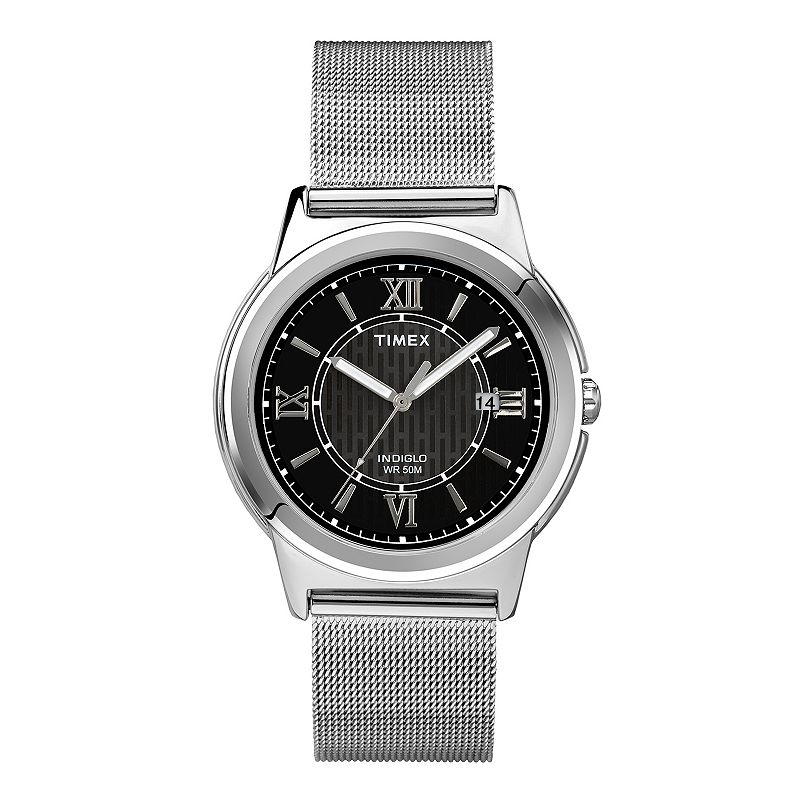 Timex Men's Classic Stainless Steel Mesh Watch - T2P519KZ