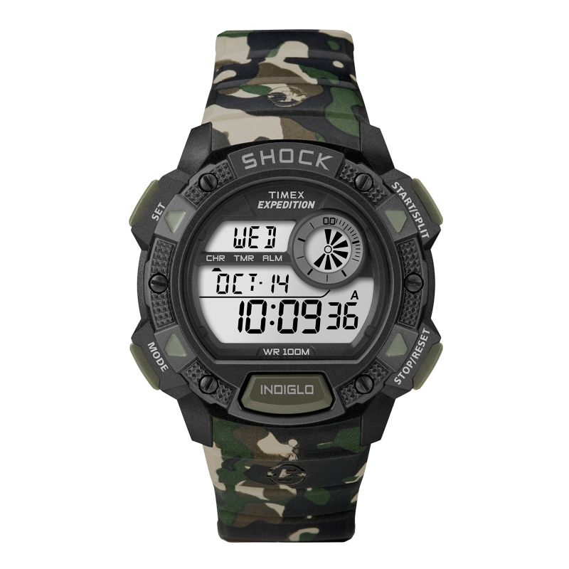 Timex Men's Expedition Digital Chronograph Watch - T49976KZ, Size: Large, Green thumbnail