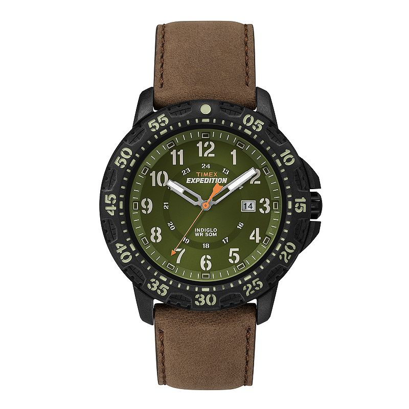 Timex Men's Expedition Camper Trail Leather Watch - T49996KZ