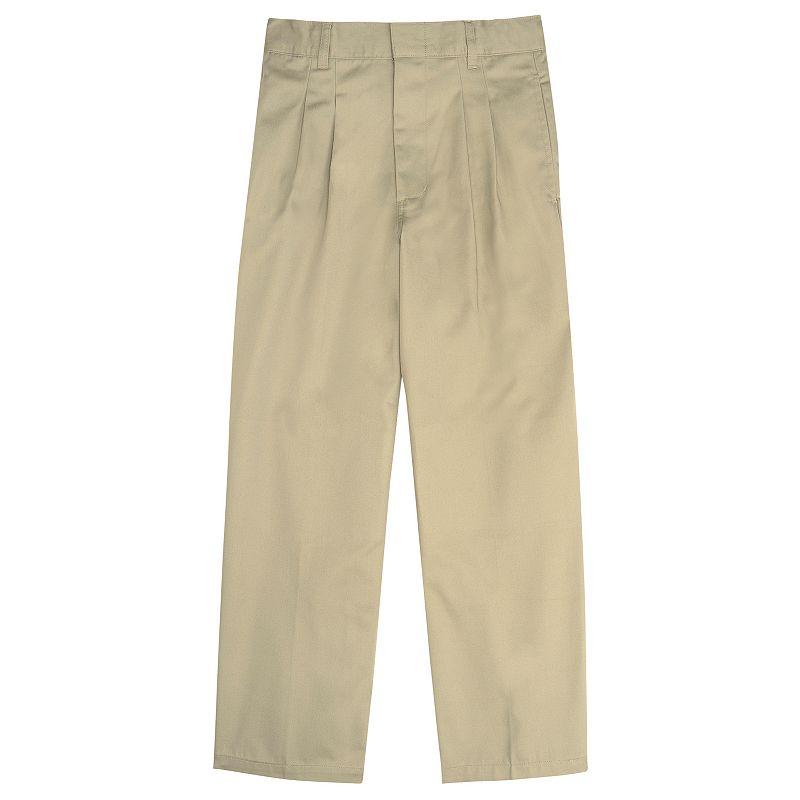 French Toast School Uniform Modern-Fit Adjustable-Waist Double-Knee Pleated Pants - Boys 8-20 Husky