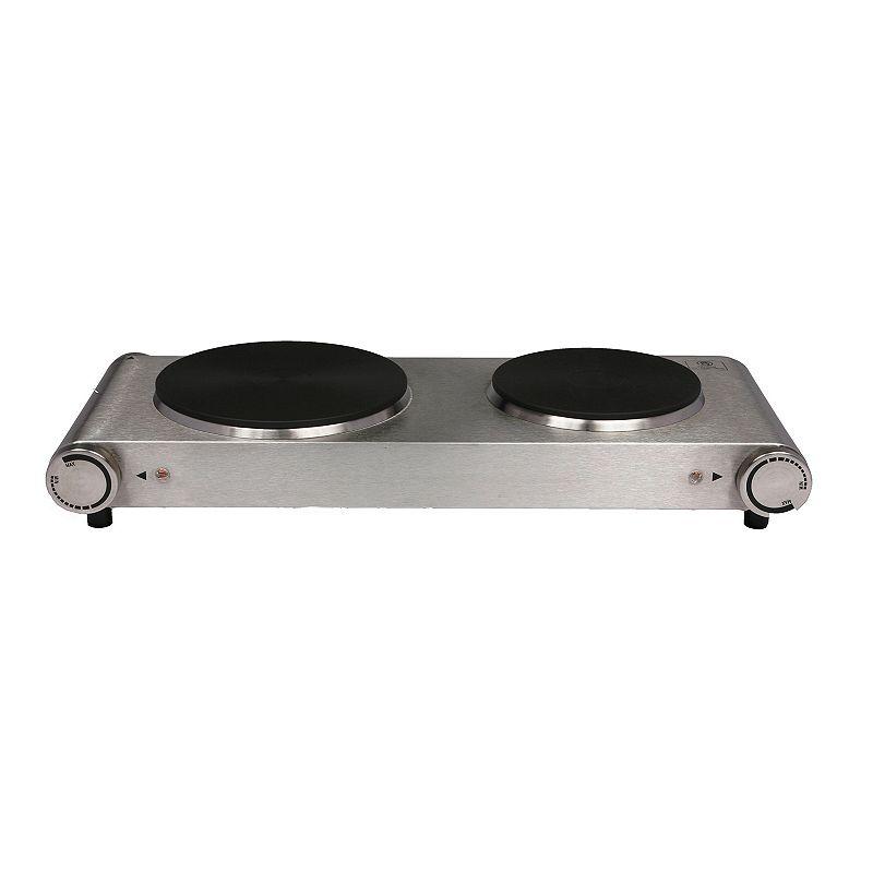 Nesco Cast Iron Electric Double Burner Buffet Server