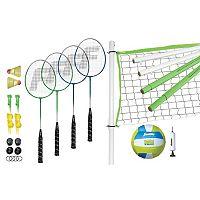 Franklin Intermediate Volleyball & Badminton Set