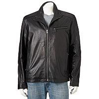 Big & Tall Vintage Leather Lambskin Racing Jacket