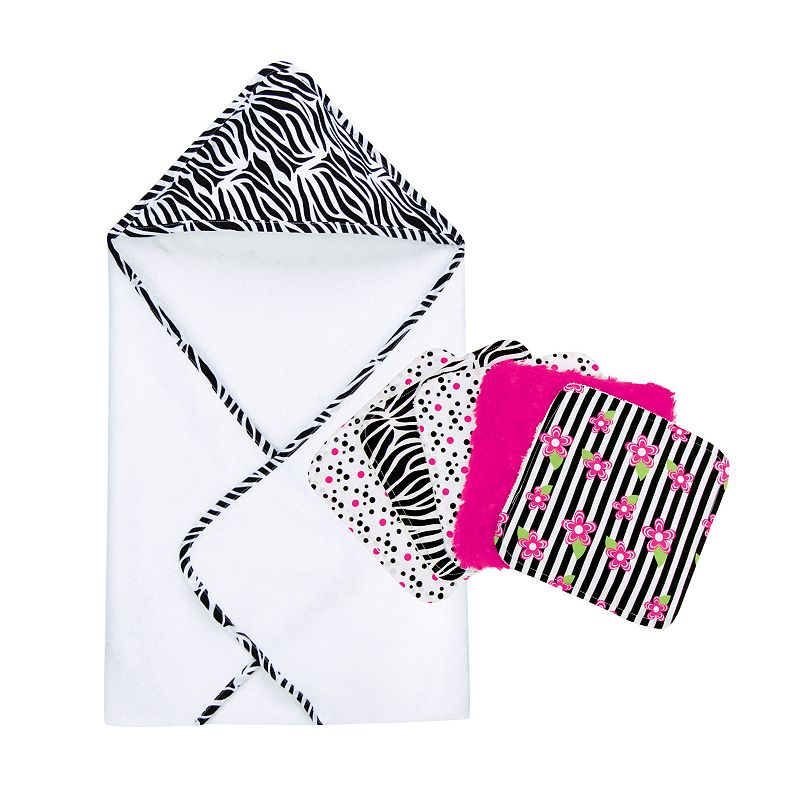 Trend Lab Zebra 6-pc. Hooded Towel & Washcloth Set