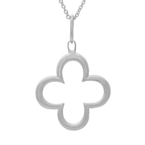 Sterling Silver Four-Leaf Clover Pendant