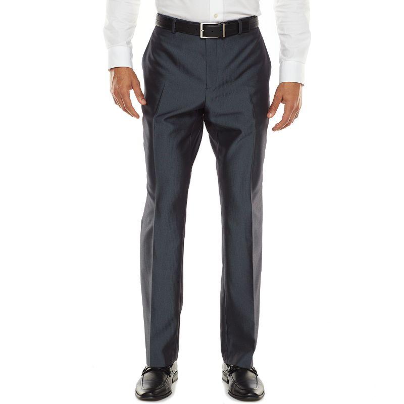 Men's Apt. 9® Extra-Slim Herringbone Blue Suit Pants