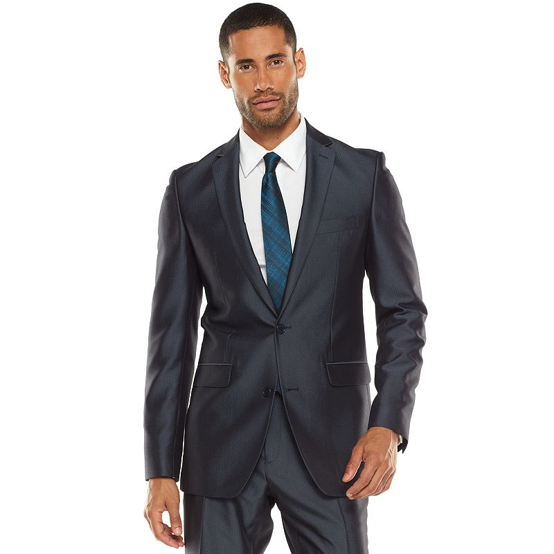 Men's Apt. 9® Extra-Slim Herringbone Blue Suit Jacket