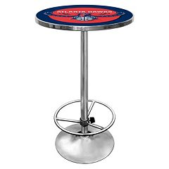 Atlanta Hawks Chrome Pub Table by