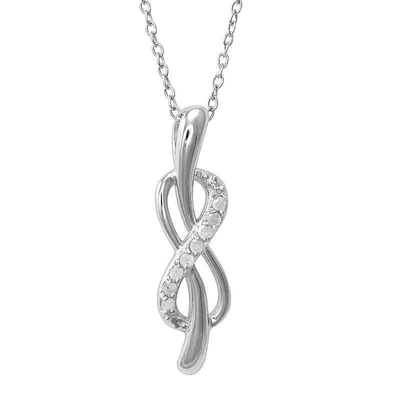 Sterling Silver 1/10-ct. T.W. Diamond Infinity Pendant