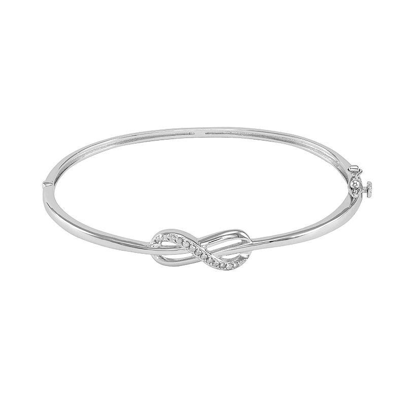 Sterling Silver 1/10-ct. T.W. Diamond Infinity Bangle Bracelet