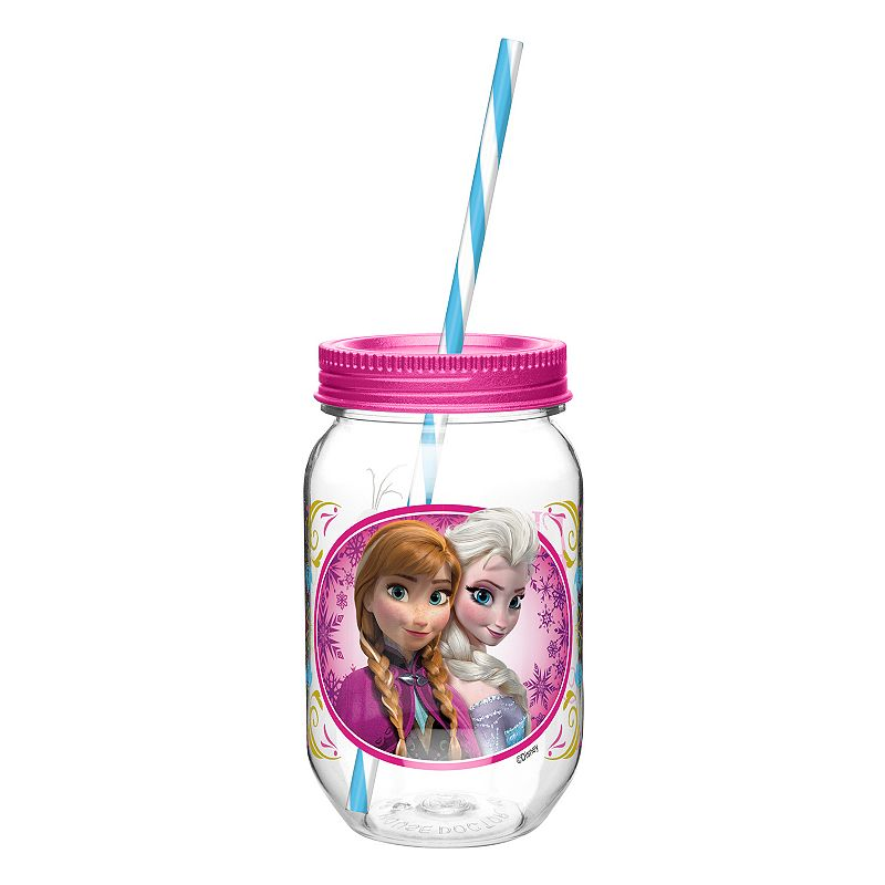 Zak Designs Disney Frozen Elsa and Anna 19-oz. Straw Tumbler