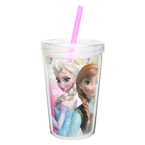 Zak Designs Disney Frozen Elsa and Anna 13-oz. Insulated Straw Tumbler