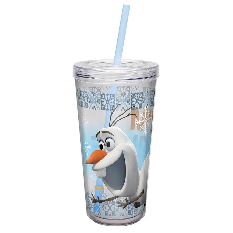 Zak Designs Disney Frozen Olaf 16-oz. Insulated Straw Tumbler