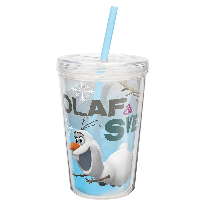 Zak Designs Disney Frozen Olaf and Sven 13-oz. Insulated Straw Tumbler
