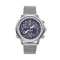 Citizen Men's Eco-Drive Navihawk A-T Stainless Steel Chronograph Watch - JY8030-83E